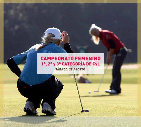 Jugadoras de golf jugando el Campeonato Femenino de 1ª, 2ª y 3ª Categoría de Castilla y León
