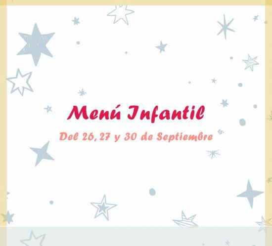 Menú infantil semanal del 26, 27 y 30 de septiembre de 2020 en el restaurante de La Galera