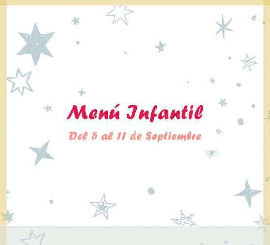 Menú infantil semanal del 5 al 11 de septiembre de 2020 en el restaurante de La Galera
