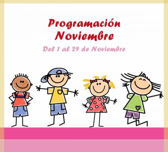 Programación de actividades de ludoteca para noviembre en La Galera