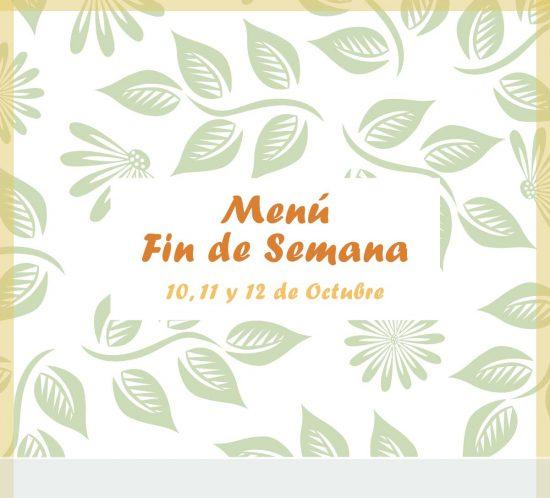 Menú del 10, 11 y 12 de octubre de 2020 en el restaurante de La Galera