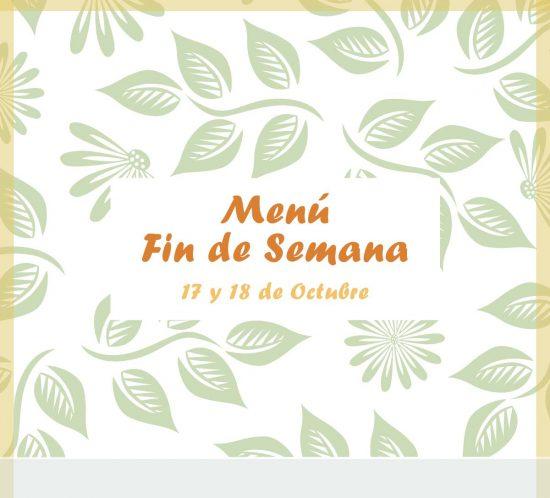 Menú para el 17 y 18 de octubre del restaurante de La Galera