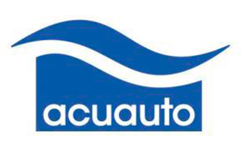 Logotipo de Acuauto como colaborador de evento en La Galera