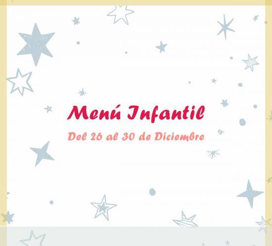 Menú infantil del 26 al 30 de diciembre del restaurante de La Galera