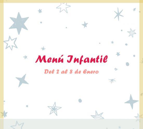Menú infantil del 2 al 8 de enero del restaurante de La Galera