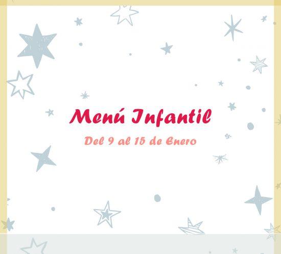 Menú infantil del 9 al 15 de enero del restaurante de La Galera