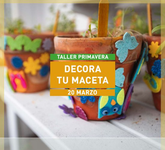 Taller especial de la Ludoteca en Primavera Decora tu maceta en La Galera Marzo de 2021