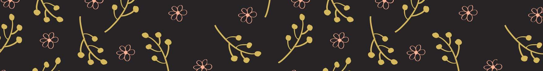 Fondo pie flores menú especial primavera