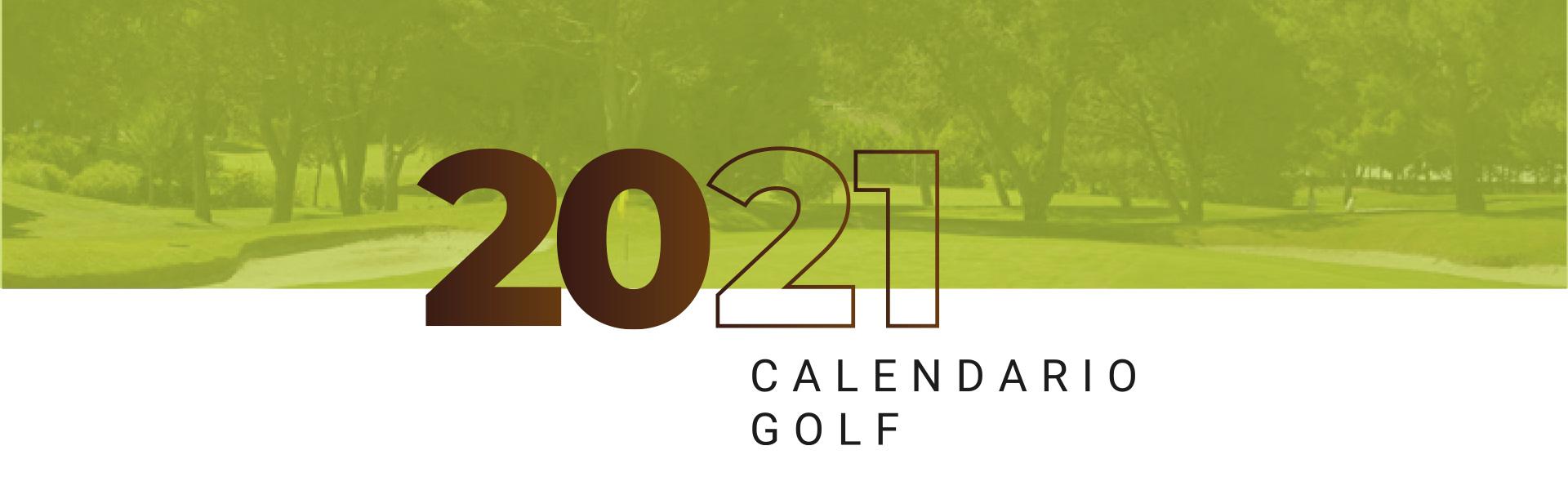 Portada de calendario de torneos y competiciones de golf de La Galera, Valladolid, en 2021