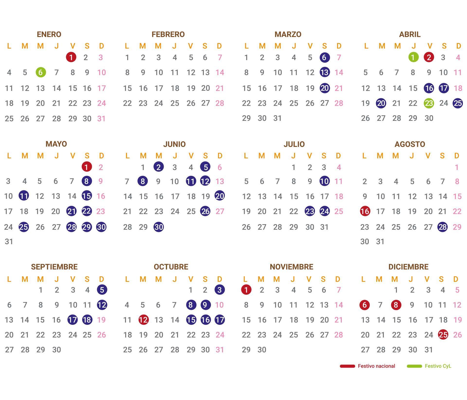 Calendario de torneos y competiciones de golf en La Galera en 2021 en Valladolid