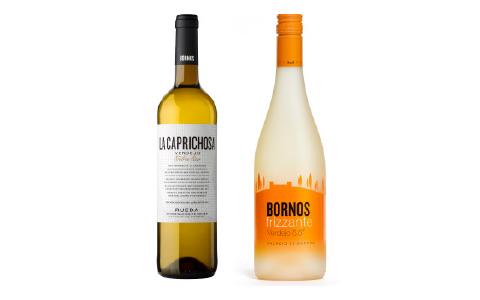 Botellas de vino Bornos