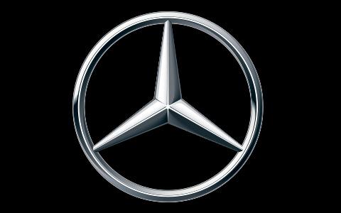 Logotipo de la estrella de Mercedes-Benz, como colaborador de evento en La Galera, en Valladolid