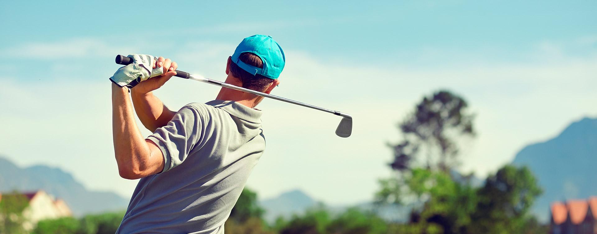 Cabecera del Open de golf en verano julio 2021
