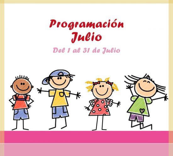 Calendario de actividades de la ludoteca para el mes de julio en La Galera Valladolid