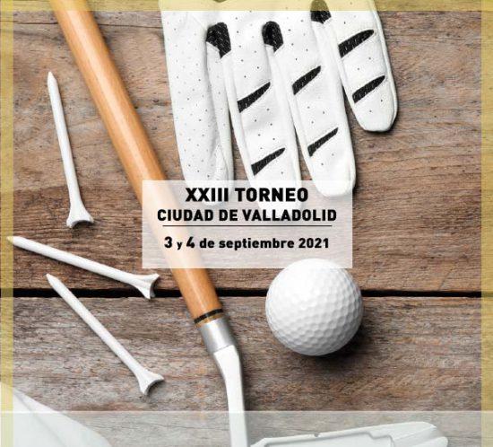 Cartel XXIII Torneo Ciudad de Valladolid, en La Galera, en septiembre de 2021