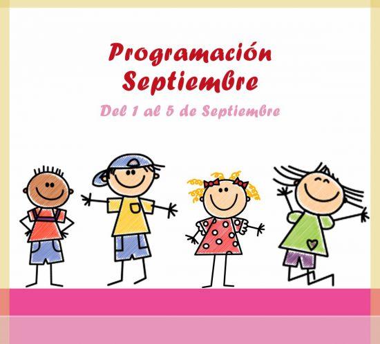 Destacada con titulo de programación de ludoteca del 1 al 5 de septiembre