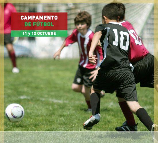 Campamento de fútbol los días 11 y 12 de octubre en La Galera